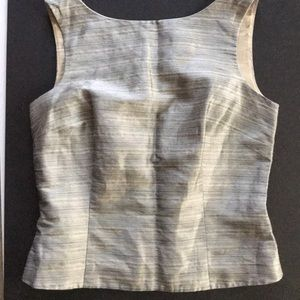 Ann Taylor Sleeveless Shell w/Back Button Closure